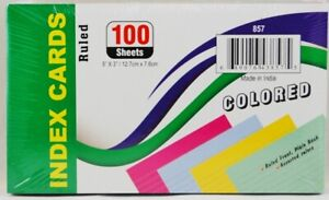 36 pack Of 100 Sheets 5 X 3 Index Cards Multicolored Ruled
