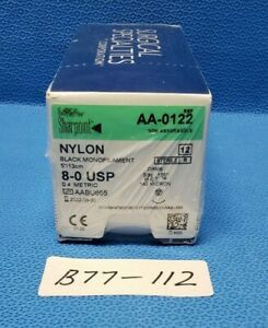 Surgical Specialties Aa 0122 Sharpoint 8 0 Nylon Box Of 12 Exp 2023