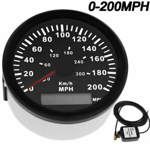 85mm Gps Speedometer Gauge 200mph 300kmh For Car Boat Motorcycle Truck Us Stock