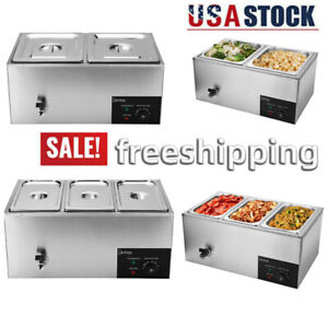 Zokop 2 3 Cells Electric Food Warmer Bain Marie Steam Table 600w 110v Commercial