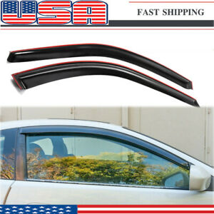 For 02 06 Rsx Window Rain Guard Visors 2dr Coupe Dc2 Acura Integra Jdm style
