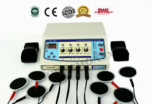 4 Channel Professional Electrotherapy Pain Relief Massager Physiotherapy Dhl P