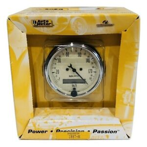 Auto Meter 3 1 8 Antique Beige Programmable Metric Speedometer Gauge Km H