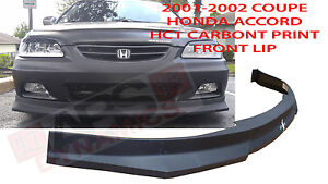 Hc1 Carbon Print Style Front Lip For 2001 02 Honda Accord Coupe Polypropylene