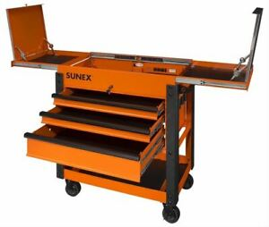 Sunex Tools 8035xtor 3 drawer Slide Top Utility Carts