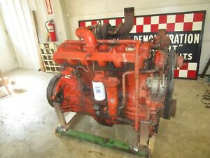 Case 1470 Traction King 504bdt Diesel Running Engine Antique Tractor