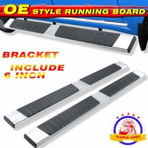 For 02 08 Dodge Ram 1500 2500 Quad Cab 6 Side Step Running Board Nerf Bar S S