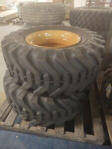 2 New Goodyear Sure Grip 15 19 5 8 Ply Tractor Tires With Rims