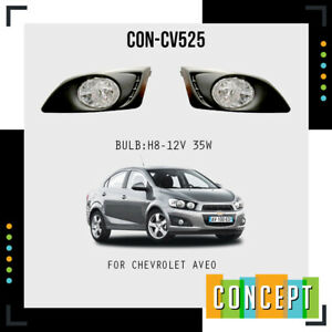 For 2012 2016 Chevy Sonic Aveo Clear Front Bumper Fog Lights Kit W Bulbs Covers