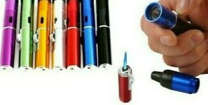 1 Pc Portable Torch Lighter Click Butane Gas Refillable With Pouch