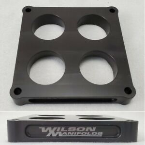 Wilson Manifolds 024110 4500 Carb Spacer 1 00 Tapered Lightweight 2 Bore New