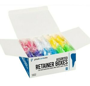 12 Sealed Assorted Dental Retainer Boxes Denture Case Mouthguard Containers Box