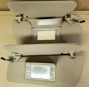 2000 Ford Expedition Tan Sun Visor Set Left Right W Lights Double Shade
