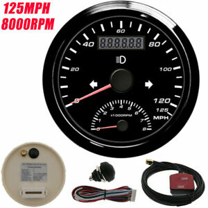 85mm Digital Gps Speedometer Gauge 125mph With Tachometer 8000rpm For Car Boat