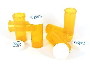 Amber Vials 6 8 13 16 20 30 40 60 Dram Sizes Child Resistant Prescription Bottle
