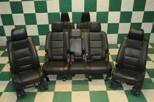 11 12 Explorer Black Leather Heated Cooled Front Buckets 2nd 3rd Tow Seat Set Oe