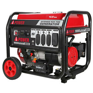 A ipower Ap10000e 10 000 watt Portable Gas Powered Generator With Electric Start