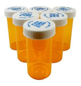 15 Pack Of Vials amber 40 Dram Pill Bottles Empty With Caps Child Resistant