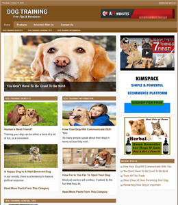 Dog Training Website Business For Sale Work From Home Internet Business
