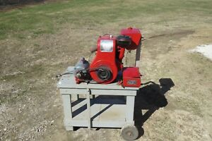 Vintage Wisconsin Aen Air Cooled Engine Motor runs