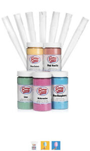 Cotton Candy Flossine Sugar Flavoring Machine Maker Supplies Kit With Cones