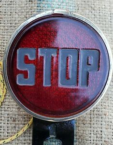 Vintage 1920 s 1930 Original Auto Stop Brake Light Glass Lens Hot Rod Accessory