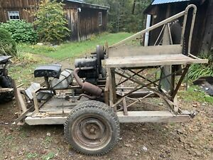 Buzz Saw On Trailer For Pto Or Motor