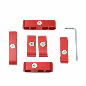 Red Aluminum 7mm 8mm 9 5mm Spark Plug Wire Separators Dividers Looms For Sbc 350