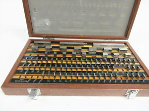 Mitutoyo 516 902 Rectangular Gage Block Set Grade 2 Be1 81 2 81 Piece Extras