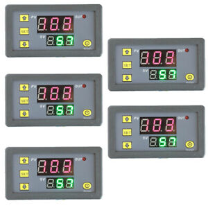 5pcs Timing Delay Relay Module Cycle Timer Digital Led Dual Display 0 999 Hours