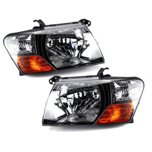 Front Head Lamps Lights Left Right For 2000 2005 2006 Mitsubishi Pajero Montero