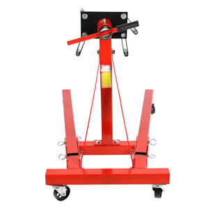 Universal Heavy Duty Engine Stand Workshop Car Auto Folding Crane Hoist Loading
