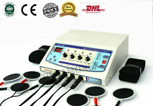 4 Channel Portable Electrotherapy Machine Multi Therapy Machine Digital Dhl P