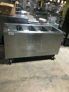 Delfield 4 Well Electric Steam Table With Pan Rack
