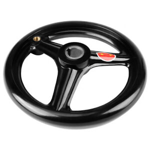 Hand Wheel 1pc Black 3 spoke Plastic Hand Wheel With Revolving Handle For