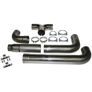 Mbrp 5 Dual Smoker Stacks For 04 5 07 Dodge Cummins Diesel Cat Back Stainless