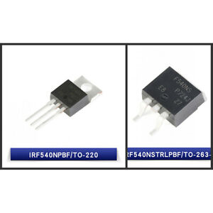 Smd in line N Mosfet Transistor Irf540npbf To 220 irf540nstrlpbf To263 3