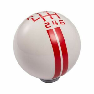 2011 2014 Ford Mustang Shift Knob 6 Speed White Red