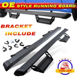 Fit Toyota Tundra Double Cab 3 Black Running Board Nerf Bar 2007 2021 Hoop Step