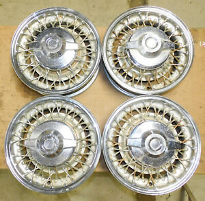 1952 1953 1954 1955 1956 Dodge Plymouth Desoto Orig Chrome Wire Wheels Spinners