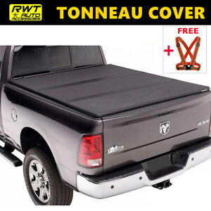 Hard Solid Tri fold Tonneau Cover Fits 2019 2021 Chevy Silverado 1500 6 5ft Bed