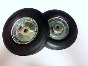 Qty 2 Never Flat 10 Solid Rubber Hand Truck Tires Wheels Dolly Tire