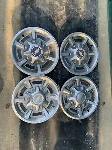 Chevy Truck 15 Inch Hubcaps 4 Oem 1973 1987