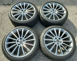Set Of 4 Oem Mercedes Cls 19 Amg Take Off Wheels Tires Factory Rims 2015 18