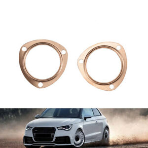 3 Copper Header Exhaust Collector Gaskets Reusable Fit For Sbc Bbc 302 350 454