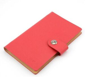 Red Business Card Holder Book Holds 300 Name Cards