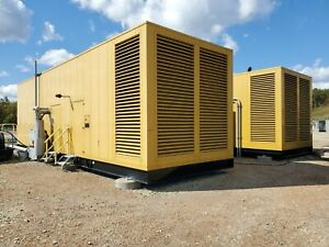 2014 1 5mw 2 Caterpillar Natural Gas G3516 740kw 1200rpm Enclosed Generators 480