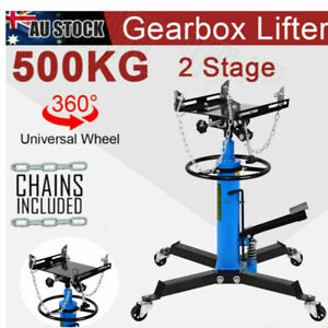 1000lbs 2 Stage Hydraulic Transmission Jack W 360swivel Wheels Lift Hoist