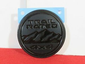 Jeep Gladiator Wrangler Right Or Left Black Trail Rated Badge New Oem Mopar