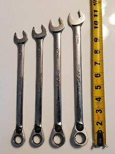 Snap On Soexrm Open End Reversible Ratcheting Box Wrench Set 15 16 17 18 Mm